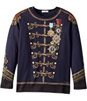Dolce & Gabbana Kids - Heraldic Long Sleeve T-Shirt (Big Kids)