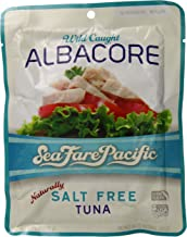 Sea Fare Pacific Wild Caught Albacore Tuna, Naturally Salt Free Pouch, 6 Ounce (Pack of 12)