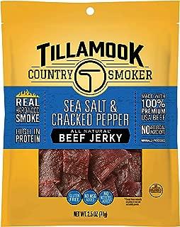 Tillamook Country Smoker All Natural, Real Hardwood Smoked Beef Jerky, Sea Salt & Cracked Pepper 2.5-oz Bag