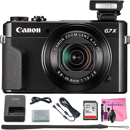 Canon PowerShot G7X Mark II cámara Digital w/visualización LCD y sensor de inclinación de 1inch–Wifi y NFC (negro) + cámara funciona cámara Digital solución de limpieza & Tarjeta de memoria de alta velocidad (16GB)