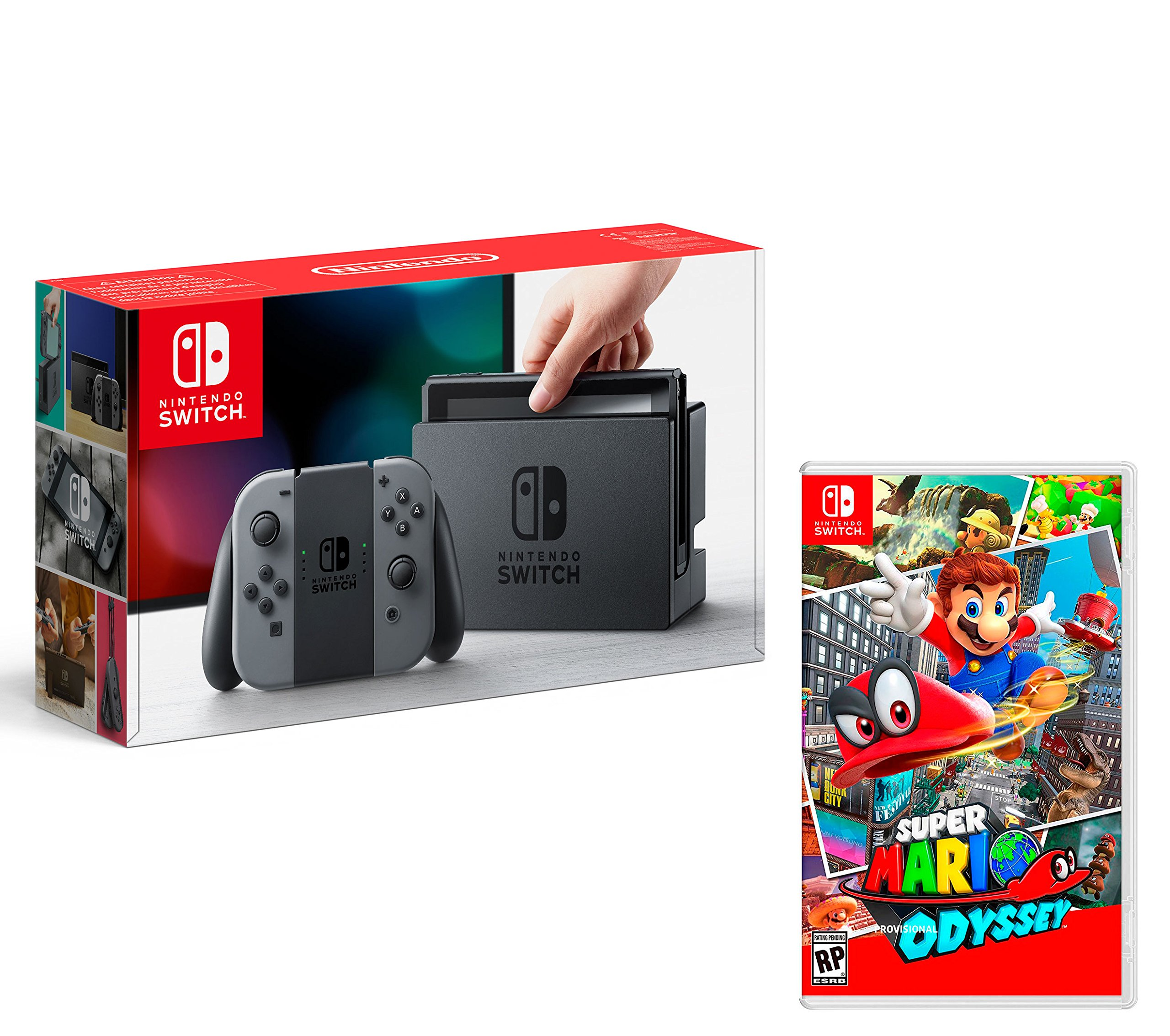 Nintendo Switch Consola 32Gb Gris + Super Mario Odyssey: Amazon.es ...