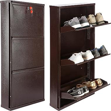 LAXMI KAPAT 3 Door Shoe Rack | Metal Shoe Rack | Wall Mounted Shoe Rack | Shoe Stand | Shoe Organizer | Shoe Cabinet | Slippe