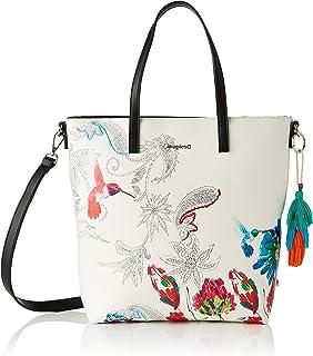Desigual Womens PU Shopping Bag, White, U