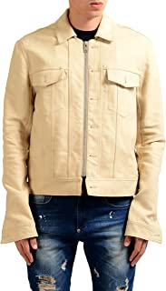 Maison Margiela 10 Men's Wool Linen Beige Full Zip Basic Jacket US XL IT 54