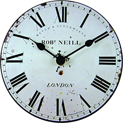 Roger Lascelles Clocks Mini/Neil Wall Clock, Small, White