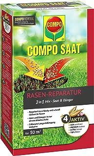 Compo 1026502004Semillas y Fertilizante para reparación de césped, 1,2kg para 50m²
