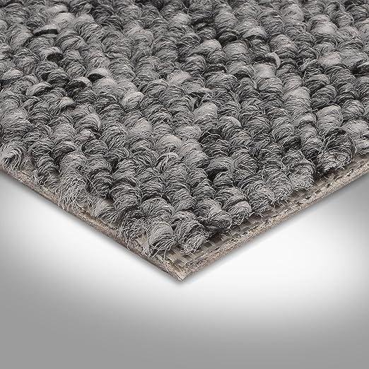 Variante 3,5x4m BODENMEISTER BM72051 Teppichboden Auslegware Meterware Schlinge grau anthrazit 400 cm und 500 cm breit verschiedene L/ängen