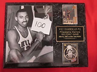 Wilt Chamberlain 100 Point Game 2 Card Collector Plaque w/8x10 Photo Vintage Photo
