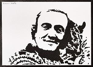 Poster Félix Rodríguez de la Fuente El Hombre y la Tierra Grafiti Hecho a Mano - Handmade Street Art - Artwork