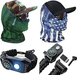 Black Fly Neck Gaiter Sun Mask Kits +Bonus Gift! Camo Headwear Headband Bandana Balaclava for Outdoor Fishing Tactical Hunting Cycling Workouts, Sun Bug Dust Cold Protection Masks for Adults & Kids