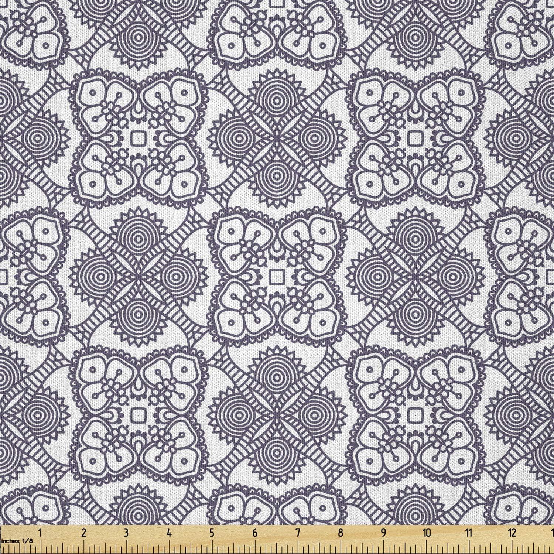 Lunarable Floral Fabric by The Oriental Yard Illustrat Genuine Now on sale Mandalas