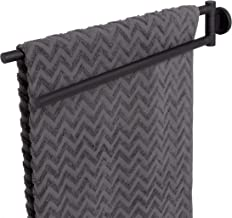 Tiger Noon handdoekhouder met twee draaibare armen, roestvrij staal, kleur: zwart, b x h x d: 4,9 x 7,8 x 45,3 cm