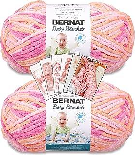 Bernat Baby Blanket Yarn - Big Ball - 2 Pack with Pattern (Peachy)