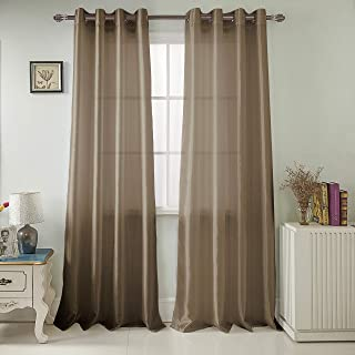RT Designers Collection Nancy Faux Silk 54 x 84 in. Grommet Curtain Panel