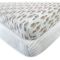 Deals on Touched by Nature Baby and Toddler Organic Cotton Crib Sheet