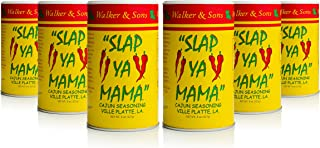 Slap Ya Mama All Natural Cajun Seasoning from Louisiana, Original Blend, MSG Free and Kosher, 8 Ounce Can, Pack of 6