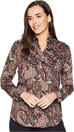 Non Iron Cotton Sateen Long Sleeve Shirt