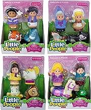 Fisher Price Little People Disney Princess & Friends Figure Set of 4 - Belle, Cinderella, Jasmin & Rapunzel