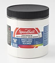 Speedball Opaque Iridescent Fabric Screen Printing Ink, 8-Ounce, Pearly White