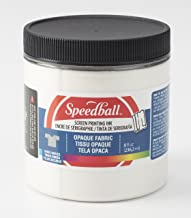 Speedball 4803  Opaque Fabric Screen Printing Inks, 8 oz, Pearl White