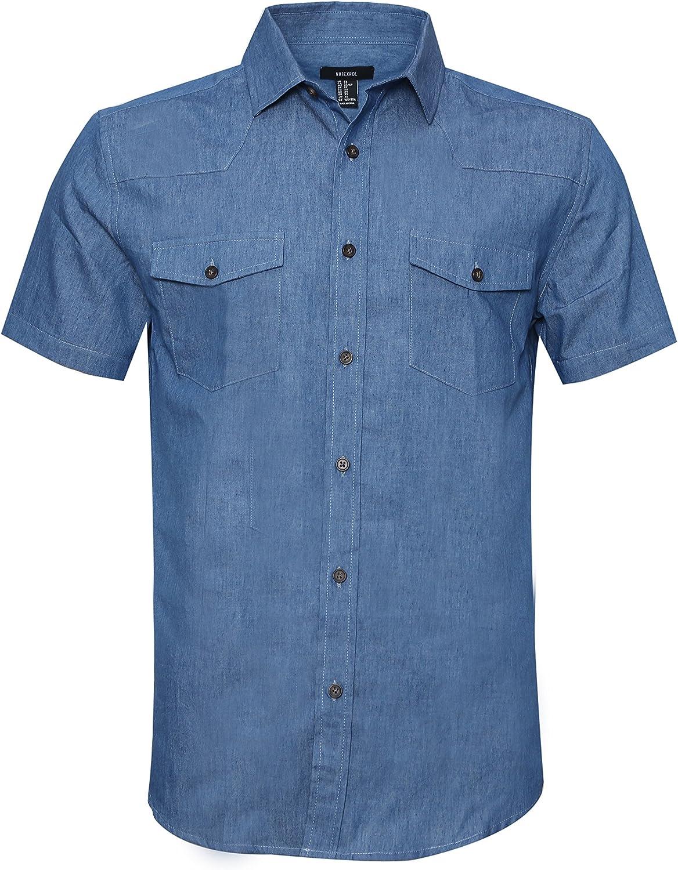 AVANZADA Men's Big Tall Sale SALE% OFF Fort Short Shirt Lightwei Sleeve Denim Limited time sale