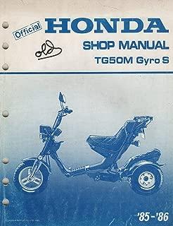 1985 1986 HONDA MOTORCYCLE TG50M Gyro S SERVICE SHOP MANUAL (861)