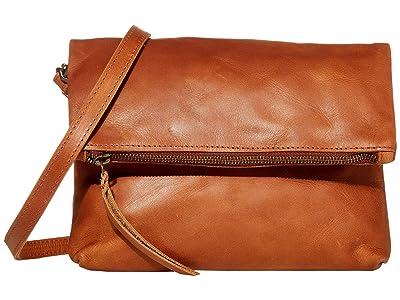 ABLE Emnet Fold-Over Crossbody (Whiskey) Cross Body Handbags