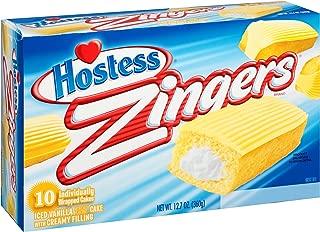 12.7oz Hostess Zingers Iced Vanilla Cake, 10 Piece (Pack of 1)
