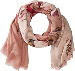 Vince Camuto Anemone Flower Tissue Wrap Scarf