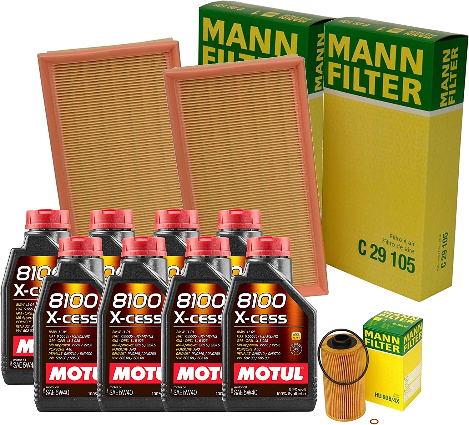 Newparts 8L 8100 X-Cess 5W40 55% OFF Filter Kit Air for Washington Mall Oil Motor Change