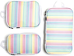 Miamica Women's Rainbow Packing Cubes, Travel Organizers, One Size
