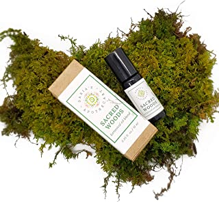 Sacred Woods Protective Essential Oil Blend – Grounding & Calming - Made from Real Trees – Pine, Cedar, Fir & Organic Therapeutic Grade Essential Oils – Concentrated Formulation - 10mL (Roll-On)