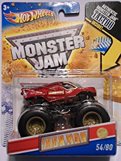 IRON MAN 1ST EDITIONS 2011 HOT WHEELS 1:64 SCALE TATTOO MONSTER JAM TRUCK 54/80