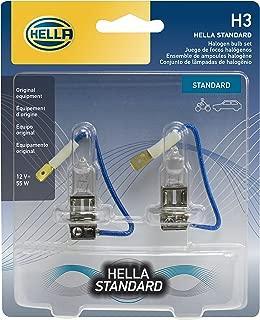 HELLA H3TB Standard-55W Standard Halogen H3 Bulbs, 12 V, 55W, 2 Pack