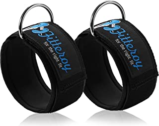 Fitteroy Ankle Straps for Cable Machine and Resistance Exercises (Pair) Strengthens and Tones Glutes and Hamstrings