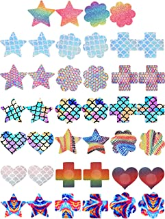 20 Pairs Nipple Covers Adhesive Pasties Disposable Nippleless Cover Breast Stickers for Women Girls