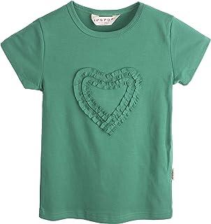 Ipuang Girls Heart-shaped Short Sleeve T-Shirt
