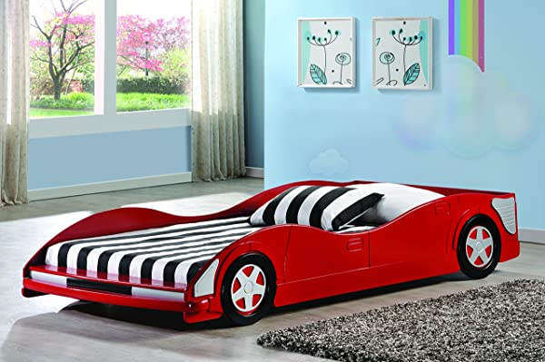 Donco Kids 4004 R Youth Race Car Bed Red