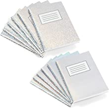 Holographic Mini Composition Notebooks, 30 Sheets Per Journal (3.25 x 4.5 In, 12 Pack)