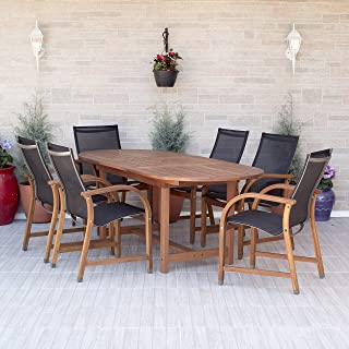 Best teak dining table and chairs for sale Reviews