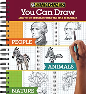 Brain Games - You Can Draw - 3 books in 1: People, Animals, Nature