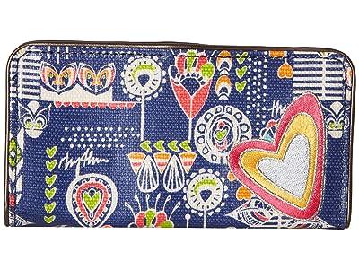 Sakroots Artist Circle Slim Wallet (Indigo Dream Song) Wallet Handbags