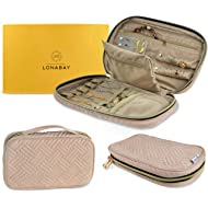 Lonabay Jewelry Travel Organizer Case Travel Jewelry Organizer Bag for Rings, Necklaces,...
