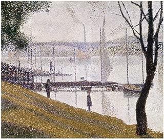 Music Poster Georges Seurat - The Bridge at Courbevoie 1887 Print 60x80cm
