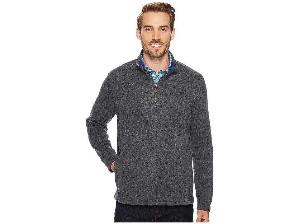 Vineyard Vines Elevated Sweater Fleece 1/4 Zip Pullover (Charcoal) Men