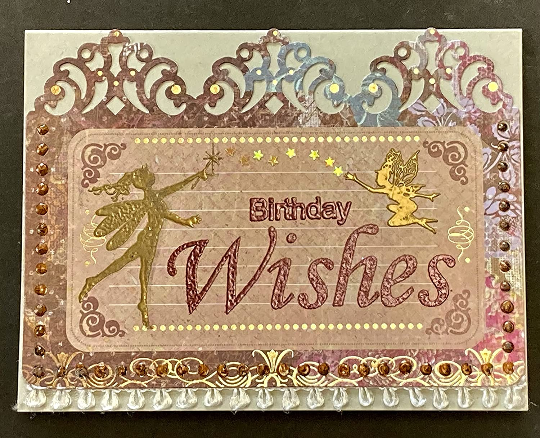 Birthday Wishes - Over item Low price handling Fairies Stars handmade card DEE by