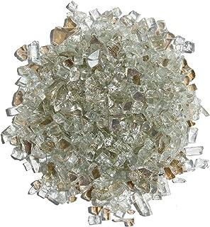Hiland Reflective Fire Glass, 10 lb, Crystal