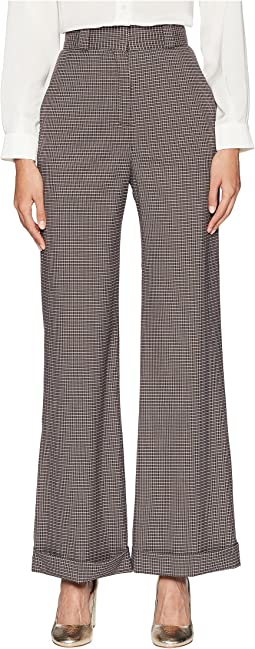 Plaid Wide Leg Trousers