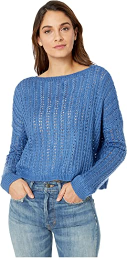 Boat Neck Sheer Sweater