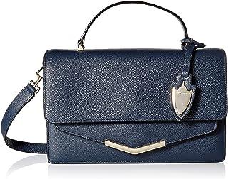 Time`s Arrow Women`s Madison Crossbody Manhattan Midnight Leather Handbag
